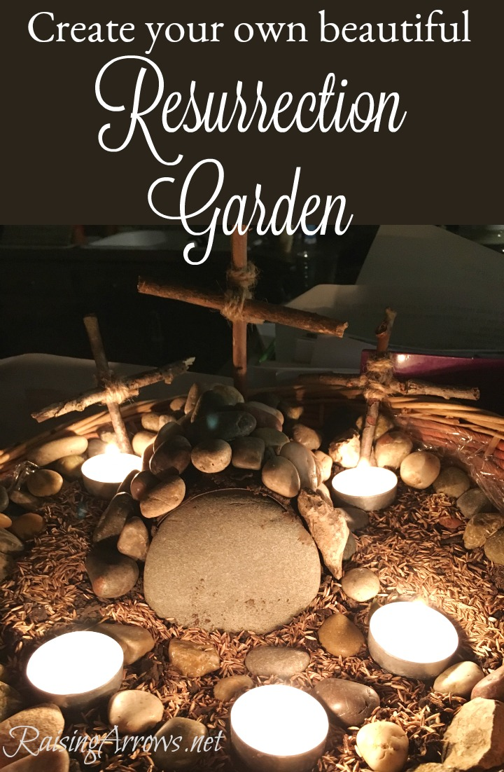 Make your own simple, family-friendly Resurrection Garden this Easter!