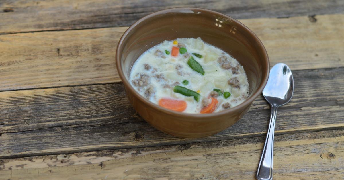 Creamy Sausage Vegetable Soup