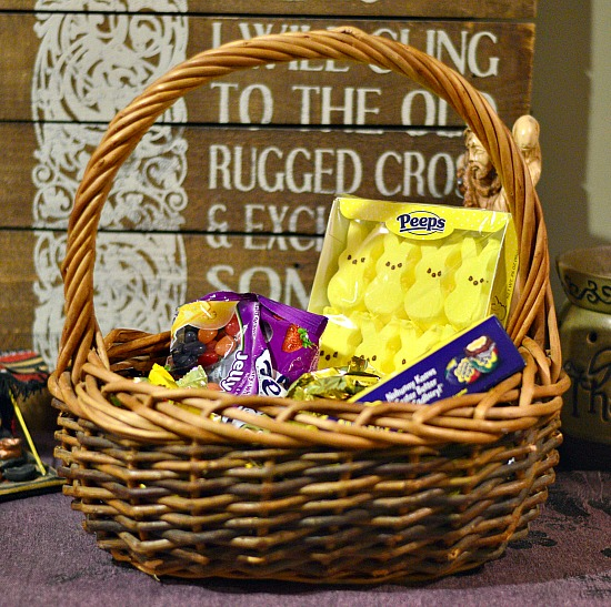 Family easter baskets frugal fun raising arrows fill just one easter basket this year full of goodies the entire family can share and negle Image collections