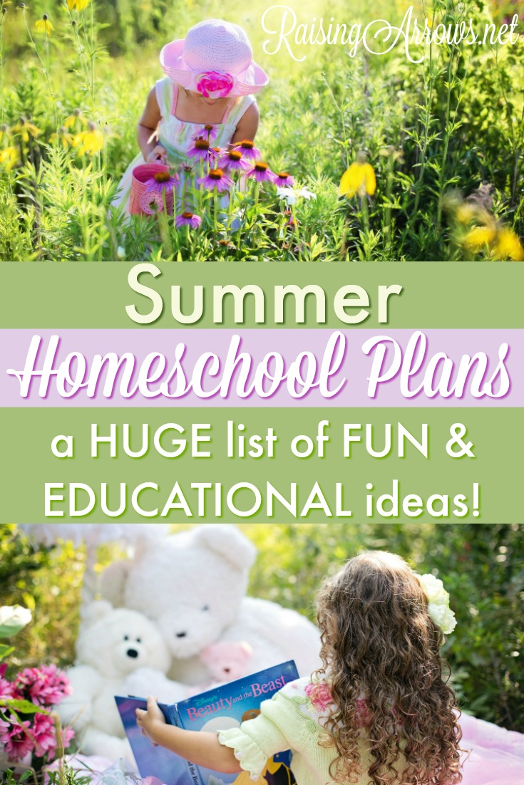 Are you looking for a fun and educational way to spend your summer months?  Check out this huge list of relaxed and flexible summer homeschooling plans!