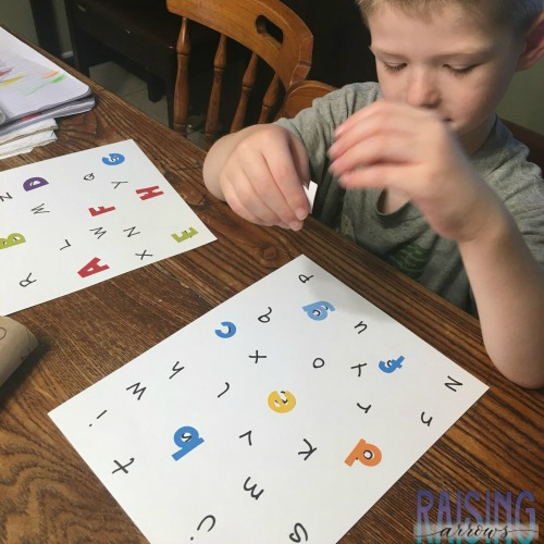 A simple preschool project to help you child identify upper and lower case letters!