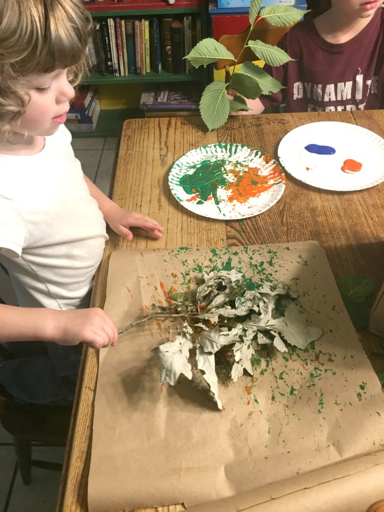Nature's Paintbrushes - Large Family Homeschool Week in Review