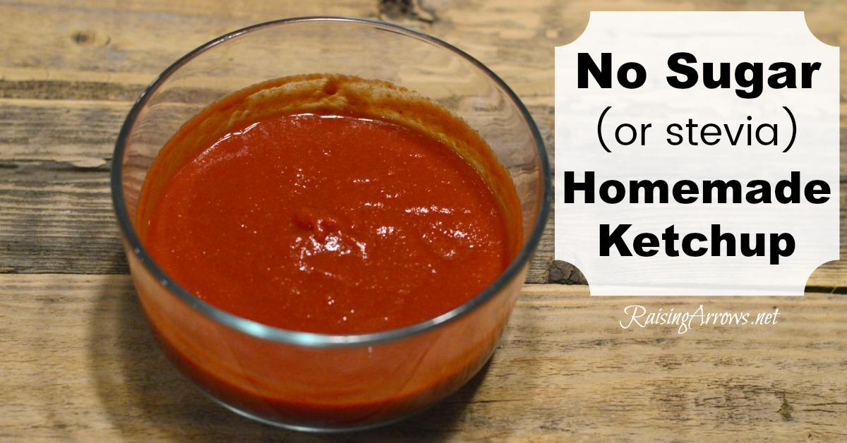 No Sugar or Stevia Homemade Ketchup