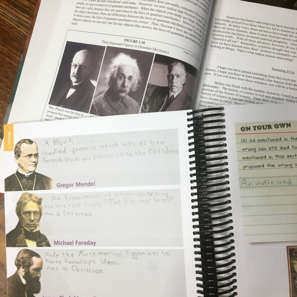 General Science notebooking from Apologia in this week's Large Family Week in Review!