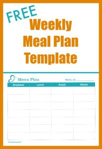 FREE Weekly Meal Plan Template