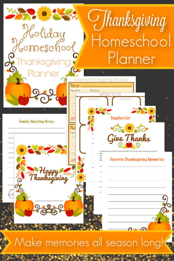 Plan a memorable Thanksgiving season with this holiday homeschooling pack! Create beautiful memories and a wonderful keepsake for years to come!