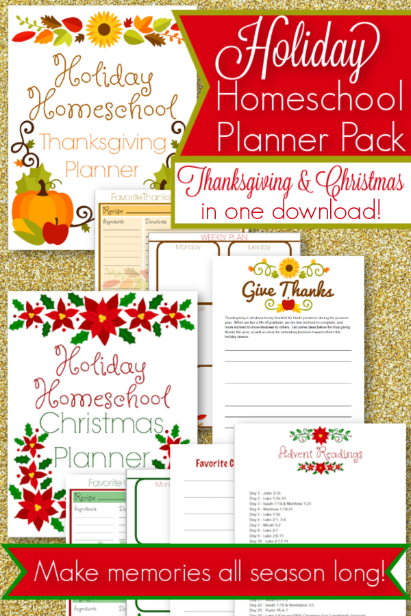 Plan a memorable Thanksgiving and Christmas season with this holiday homeschool pack! Create beautiful memories and a wonderful keepsake for years to come!