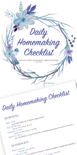 Daily Homemaking Checklist