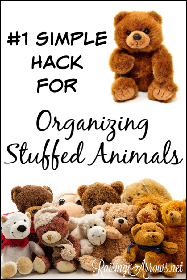 Don't let stuffed animals take over your home! You'll wish you had come up with this super simple storage solution for organizing stuffed animals!