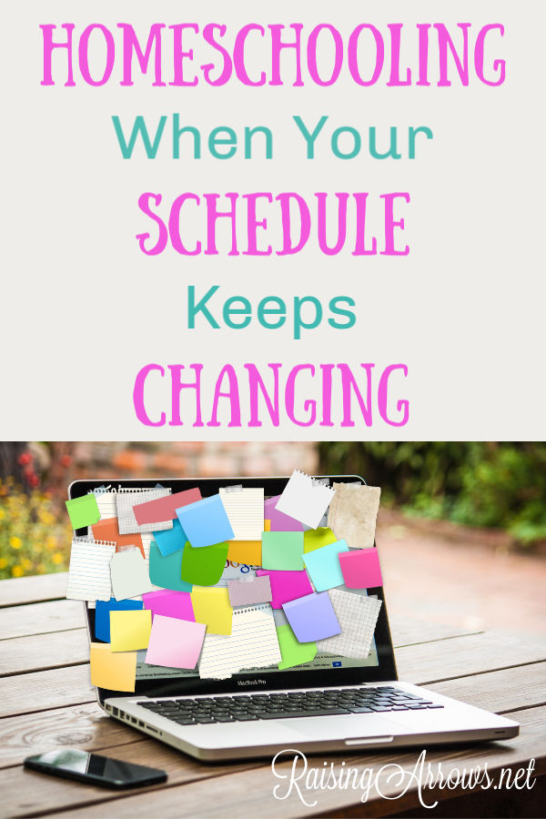If your days never seem the same and you are struggling to keep a homeschooling schedule, learn how to anchor certain homeschool subjects and be flexible with everything else.