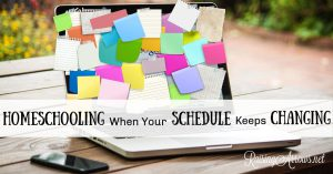If your days never seem the same and you struggle to keep a homeschooling schedule, learn how to anchor homeschool subjects and be flexible with the rest.