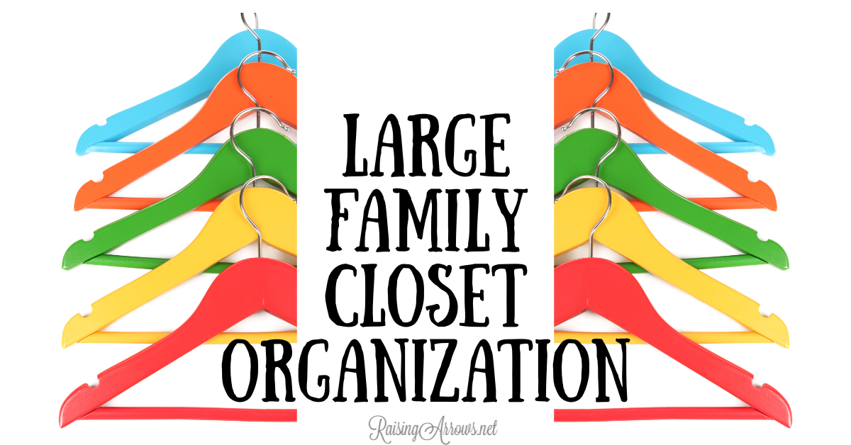 Large Family Closet Organization – Family of 10