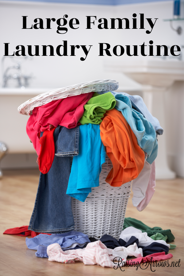 Managing the laundry of a large family household is an everyday task, but creating a room-by-room system makes Mt. Washmore manageable!