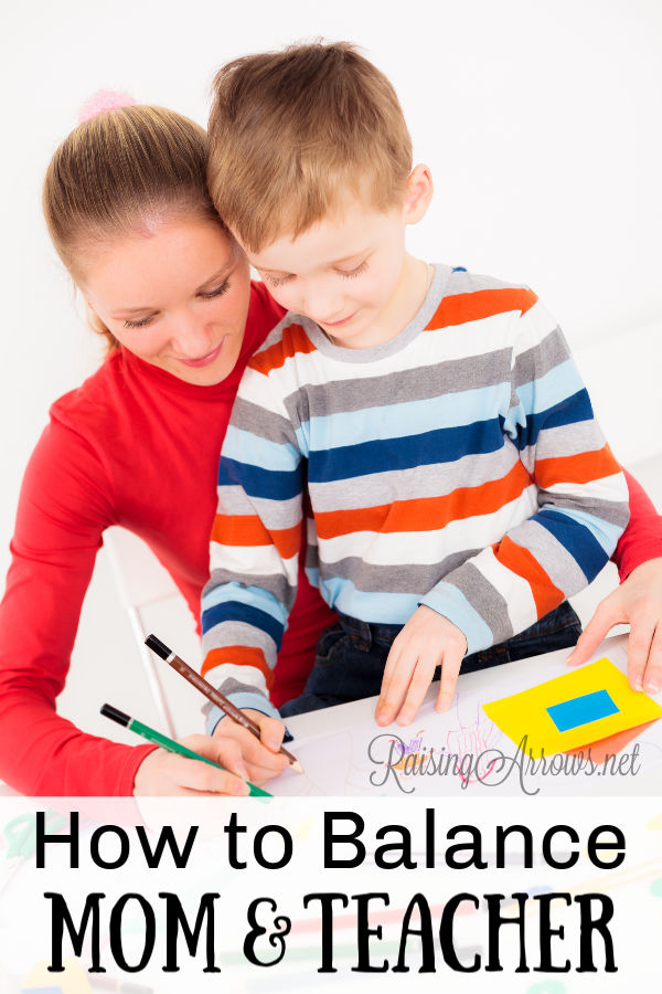 You want to be a good mom and a good homeschool teacher, but how do you balance those roles in the homeschool classroom and beyond?