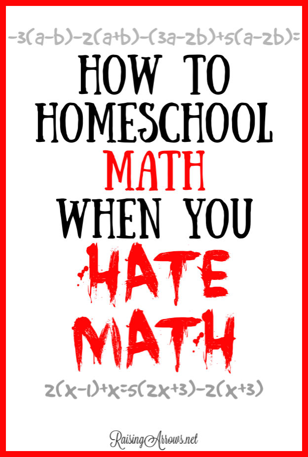 Homeschool moms often fear teaching math to their kids.  Here are simple tips to make math easier to teach!