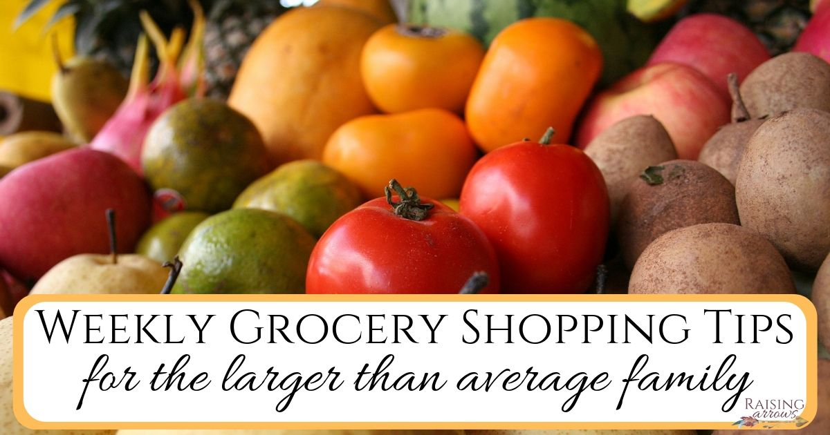 Large Family Weekly Grocery Shopping Strategies (+ Basic Grocery List!)