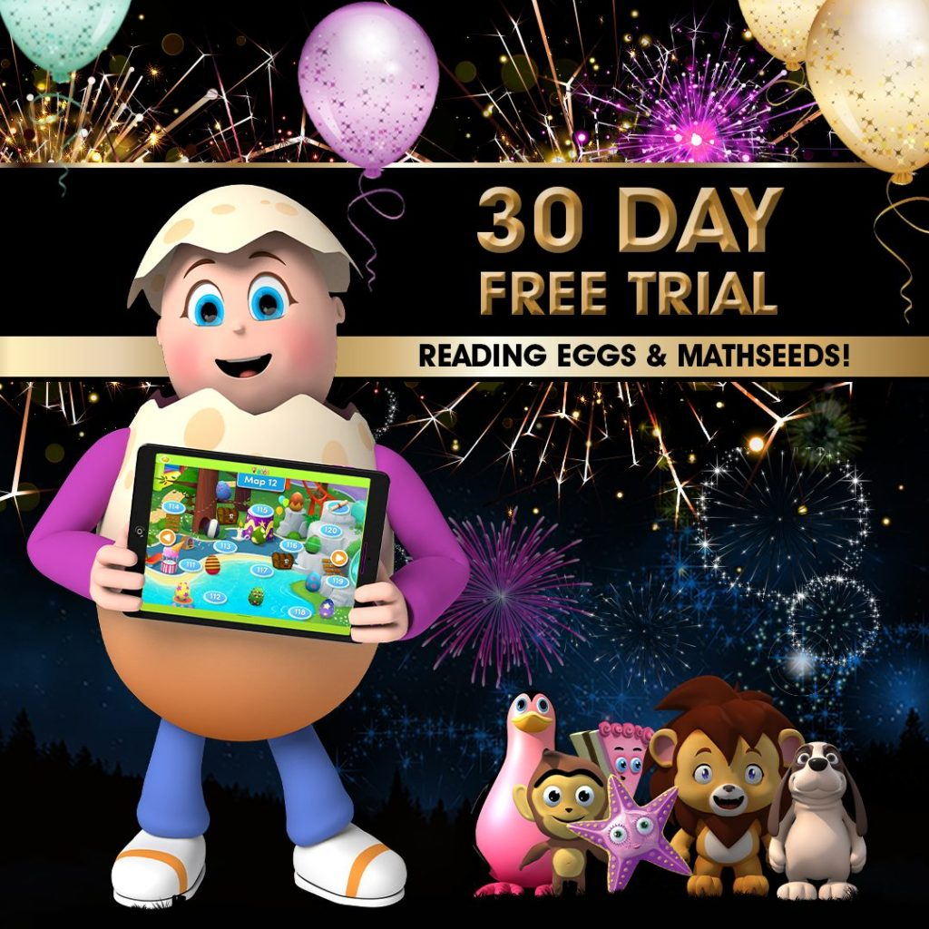Free 30 Day Trial of Reading Eggs!