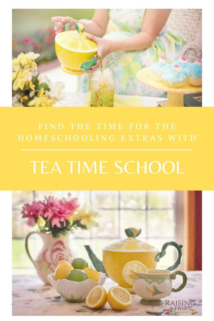 Fit in extra homeschool subjects with a special school time in the afternoon!  Here are simple ideas to make your Tea Time School special!