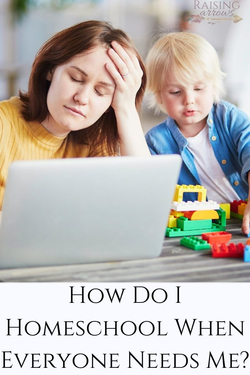How do you homeschool when everyone needs you all the time?  Learn tried and true tips from a homeschooling mom of 10!