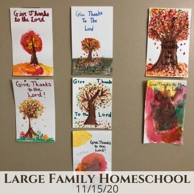 Large Family Homeschool Life – 11/15/20