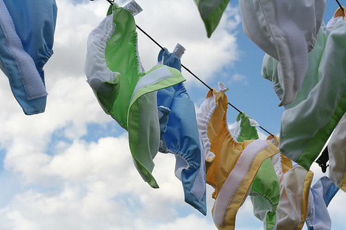 drying diapers